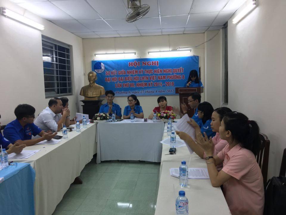 Phường 8 : Sơ kết giữa nhiệm kỳ thực hiện nghị quyết Đại Hội Đại Biểu Hội LHTN Việt Nam lần thứ VII nhiệm kỳ 2014 - 2019