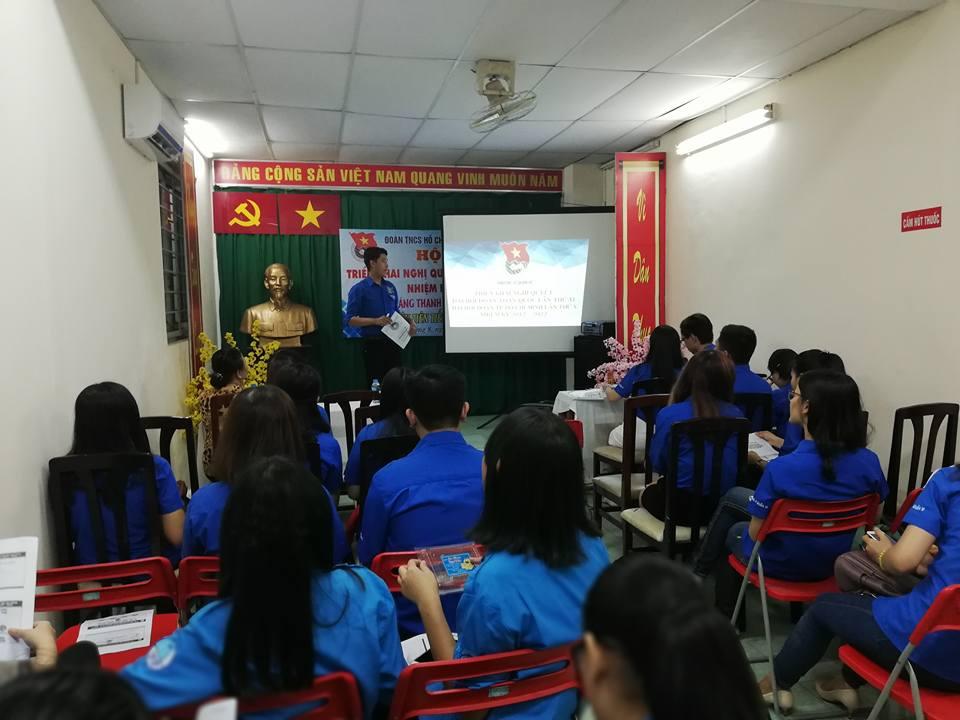 Phường 8: Triển khai nghị quyết Đại Hội Đoàn TNCS Hồ Chí Minh các cấp nhiệm kỳ 2017 - 2022