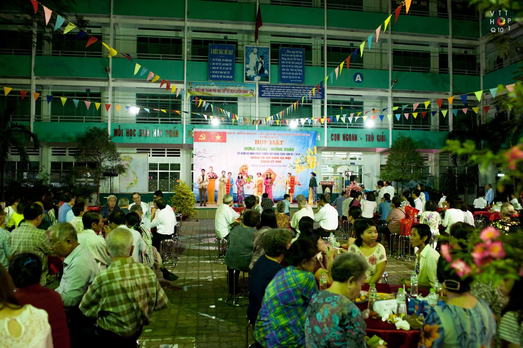 Phường 1 - Họp mặt Mừng Đảng - Mừng Xuân; kỷ niệm 89 năm Ngày thành lập Đảng Cộng sản Việt Nam; Chăm lo An sinh xã hội Kỷ Hợi