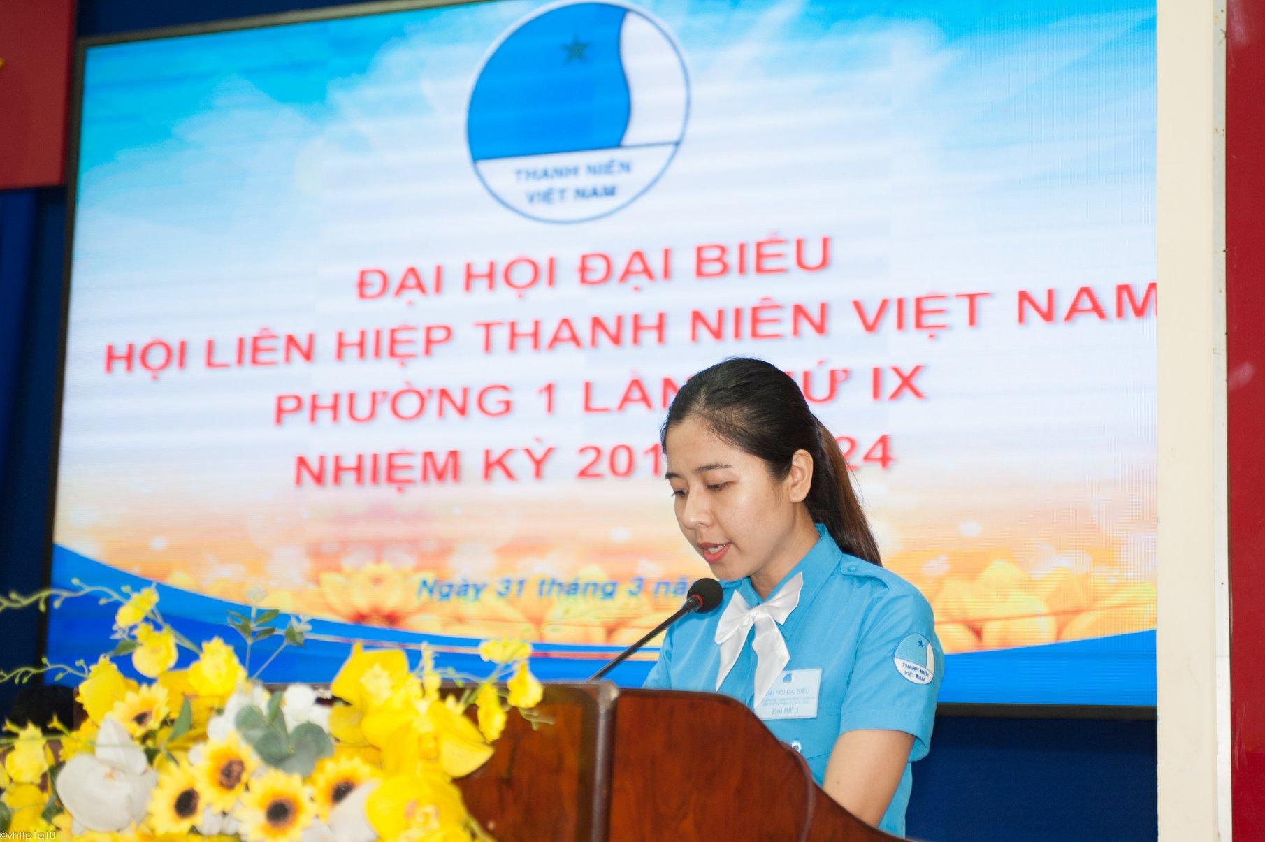 Phường 1 - Đại hội đại biểu Hội LHTN Việt Nam Phường 1 lần thứ IX nhiệm kỳ 2019 - 2014