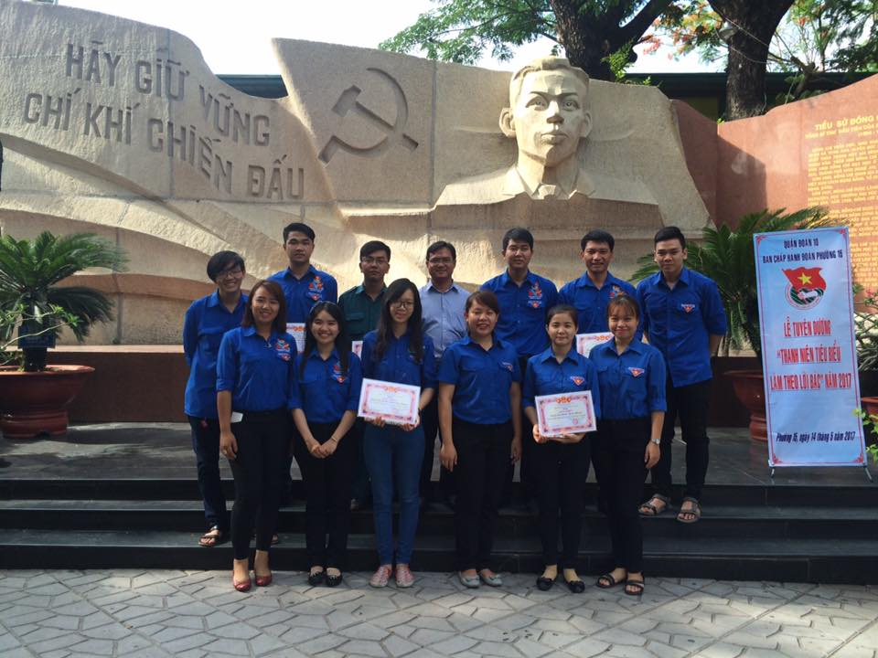Đoàn Phường 15 tổ chức các hoạt động chào mừng 127 năm ngày sinh Chủ tịch Hồ Chí Minh (19/5/1890 - 19/5/2017)