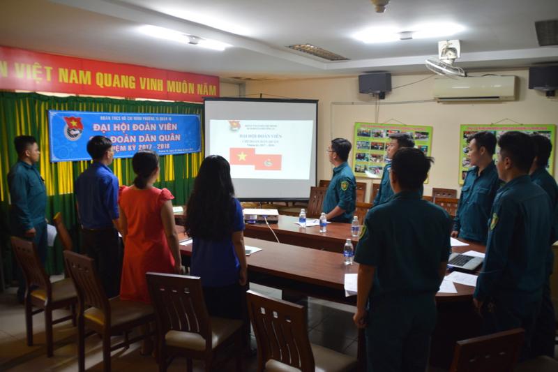 Phường 15 - Chi Đoàn Dân quân tổ chức Đại hội Đoàn viên nhiệm kỳ 2017 - 2018