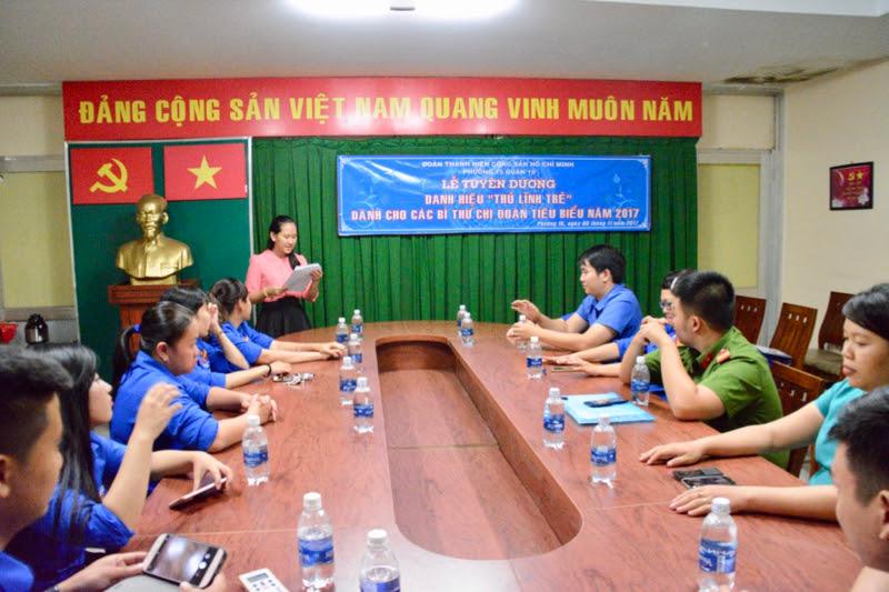 Phường 15 - Tuyên dương danh hiệu Thủ lĩnh trẻ dành cho các Bí thư chi Đoàn tiêu biểu năm 2017