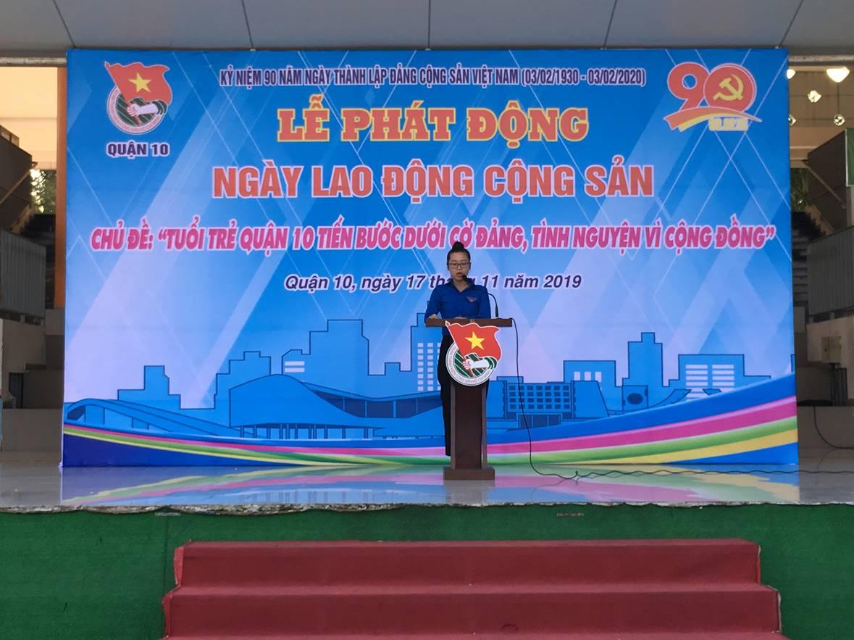 Tuổi trẻ Quận 10 hăng hái thực hiện các công trình phần việc hưởng ứng Ngày Lao động Cộng sản năm 2019