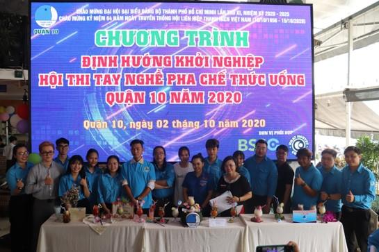 Chương trình Tọa đàm Định hướng khởi nghiệp và Hội thi tay nghề pha chế thức uống.